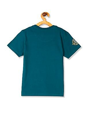 Cherokee Green And Yellow Boys Flip Sequin Panelled T-Shirt