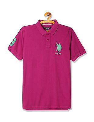 U.S. Polo Assn. Short Sleeve Appliqued Polo Shirt