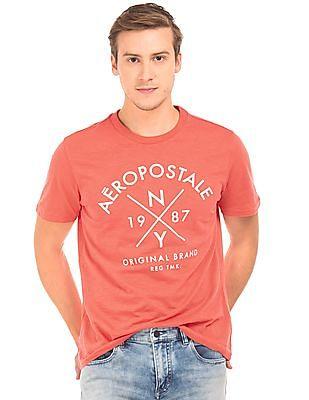 Aeropostale Brand Print Cotton T-Shirt