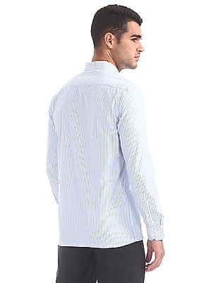 Excalibur Semi Cutaway Collar Striped Shirt