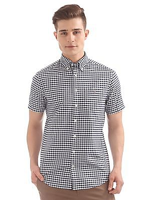 Gant The Oxford Gingham Regular Short Sleeve Button Down Shirt