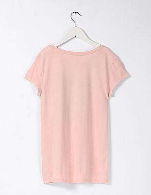 GAP Girls Pink Short Sleeve Printed Tee
