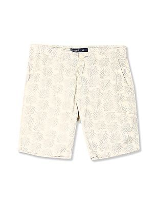Cherokee Leaf Print Cotton Shorts