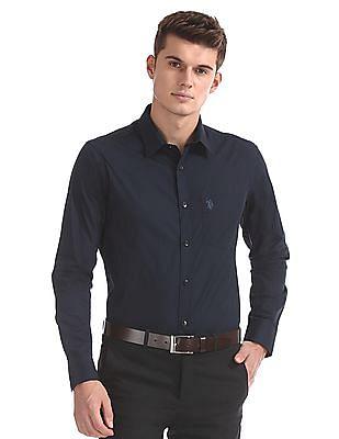 USPA Tailored Regular Fit Solid Shirt