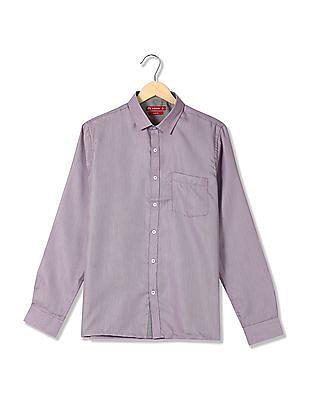 Excalibur Cutaway Collar Patterned Weave Shirt