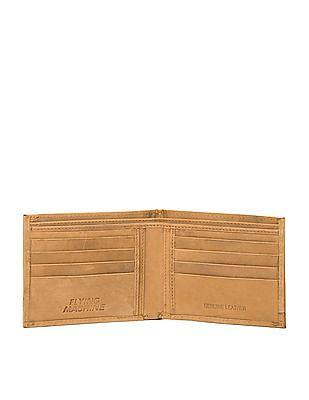 Flying Machine Panelled Leather Bi-Fold Wallet