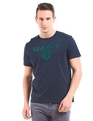 Gant Brand Print Short Sleeve T-Shirt
