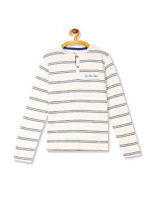 U.S. Polo Assn. Kids Boys Striped Henley T-Shirt