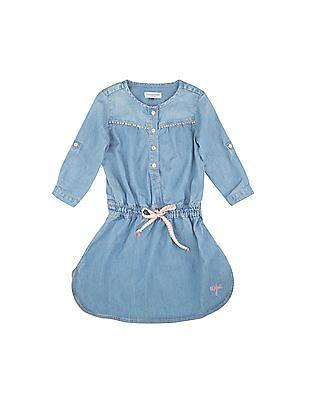 U.S. Polo Assn. Kids Girls Denim Shirt Dress