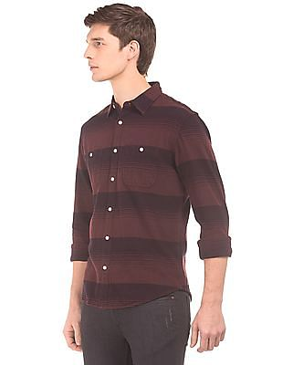 Aeropostale Striped Regular Fit Shirt