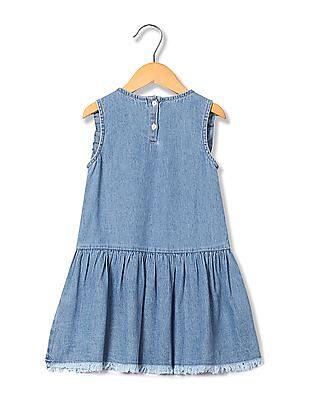 U.S. Polo Assn. Kids Girls Drop Waist Denim Dress