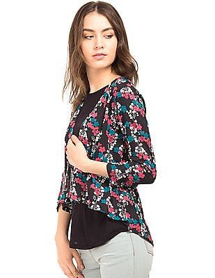 Cherokee Open Front Layered Top