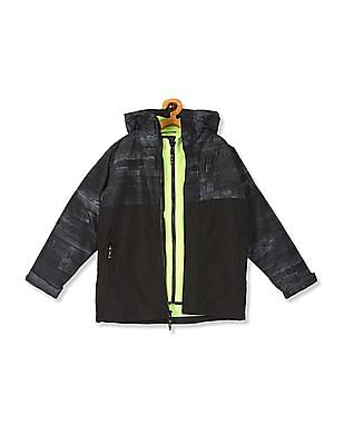 The Children's Place Black Boys 3 In 1 Hooded Jacket