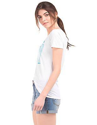 Aeropostale Numeric Print Cotton T-Shirt
