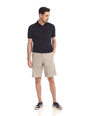 Arrow Sports Regular Fit Slubbed Shorts
