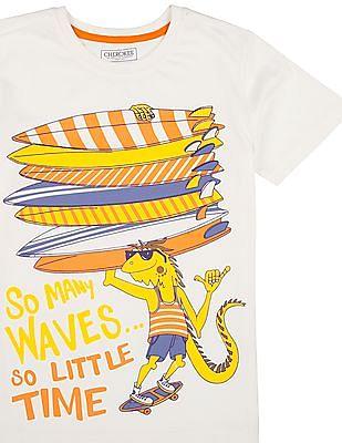 Cherokee Boys Graphic Print Round Neck T-Shirt