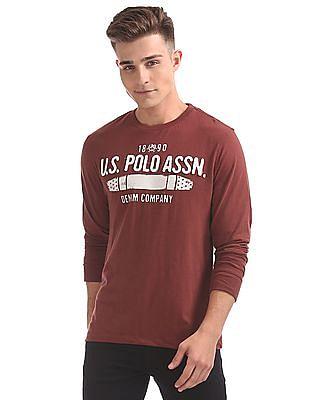 U.S. Polo Assn. Denim Co. Appliqued Front Muscle Fit T-Shirt