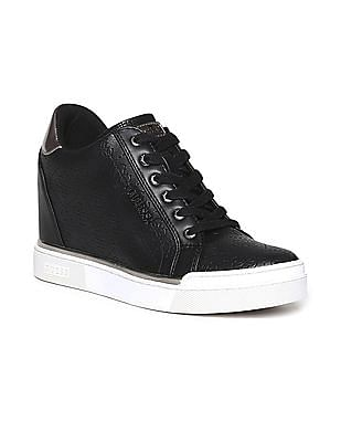 GUESS Debossed Logo Mid Top Sneakers