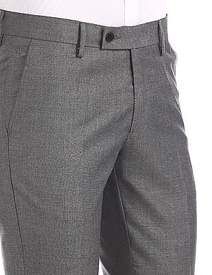 Arrow Slim Fit Patterned Weave Trousers
