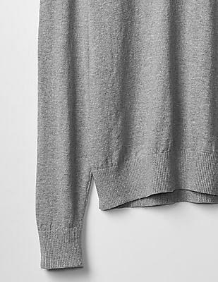 GAP Cotton Slub V-neck Sweater