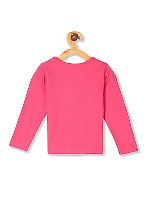 Cherokee Girls Long Sleeve Graphic T-Shirt