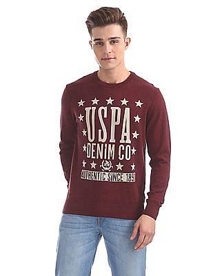U.S. Polo Assn. Denim Co. Crew Neck Printed Sweater