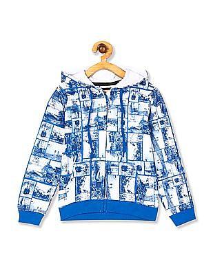 Cherokee Boys Contrast Print Hooded Sweatshirt