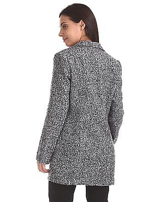 Elle Studio Spread Collar Patterned Jacket
