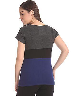 SUGR Colour Blocked Cotton T-Shirt