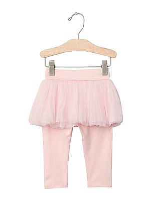 GAP Baby Pink Tulle Skirt Legging Duo