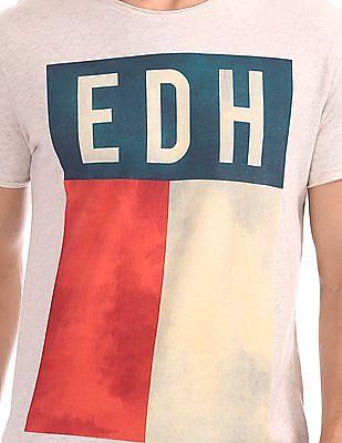 Ed Hardy Slim Fit Contrast Print T-Shirt