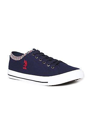 U.S. Polo Assn. Contrast Trim Canvas Sneakers