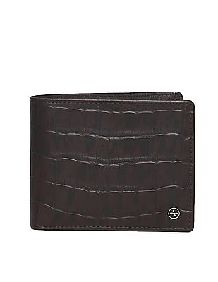 Arrow Brown Textured Leather Wallet
