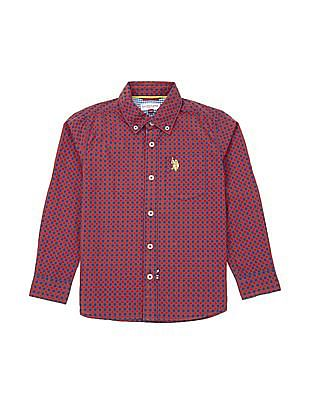 U.S. Polo Assn. Kids Boys Tattersall Check Shirt