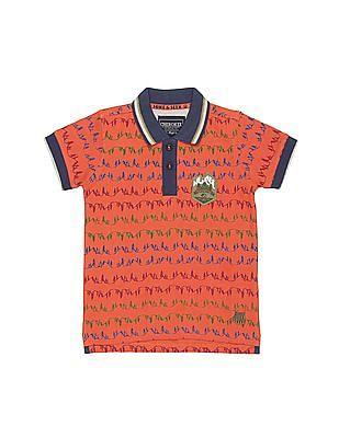 069524fb Buy Boys Boys Pine Tree Print Pique Polo Shirt online at NNNOW.com