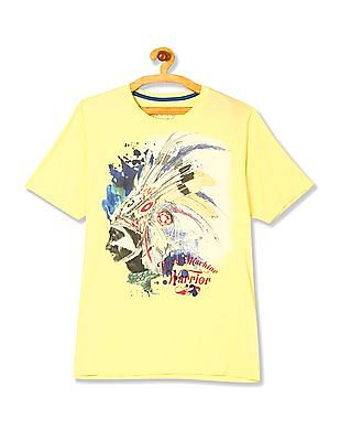 Flying Machine Short Sleeve Printed T-Shirt
