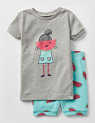 GAP Baby Watermelon Girl Short Sleep Set