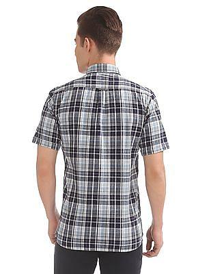Arrow Sports Short Sleeve Linen Cotton Shirt
