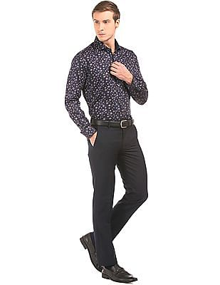 Arvind Slim Fit  Front Crease Trousers