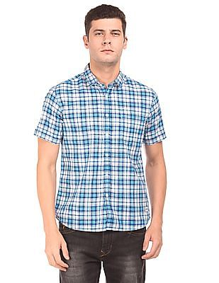 Flying Machine Short Sleeve Check Shirt