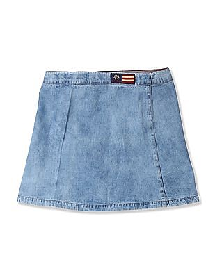 U.S. Polo Assn. Kids Girls Denim Pencil Skirt