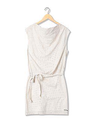 U.S. Polo Assn. Women Cowl Neck Printed Dress