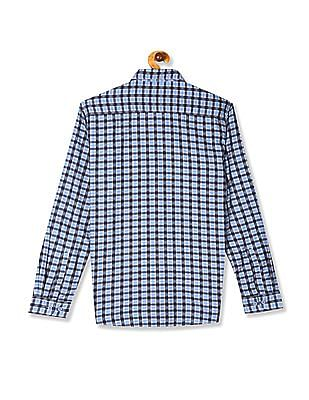 Roots by Ruggers Blue Rounded Cuff Check Shirt