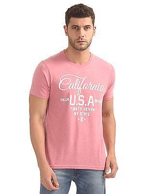 Izod Printed Front Heathered T-Shirt