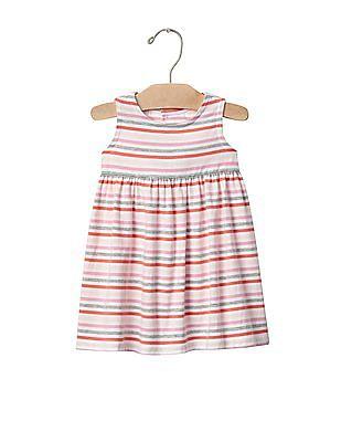 GAP Baby Multi Colour Print Open Back Tank Dress