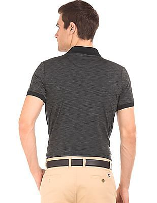 Arrow Newyork Mesh Panel Striped Polo Shirt