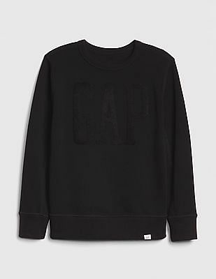 GAP Black Boys Logo Crewneck Sweatshirt