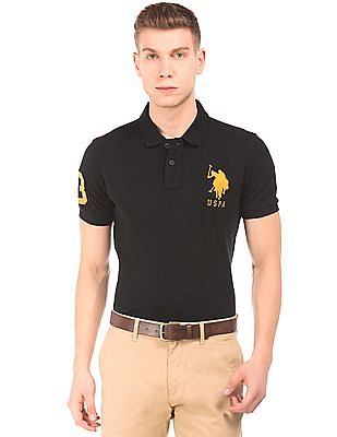U.S. Polo Assn. Appliqued Slim Fit Polo Shirt