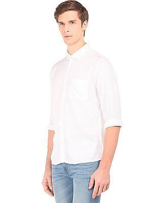 Ruggers Regular Fit Twill Rayon Shirt