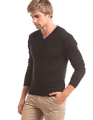Arrow Newyork V-Neck Wool Sweater